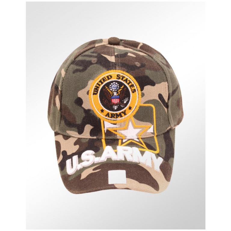 Boné Militar Camuflado Black Tiger U.S. Army
