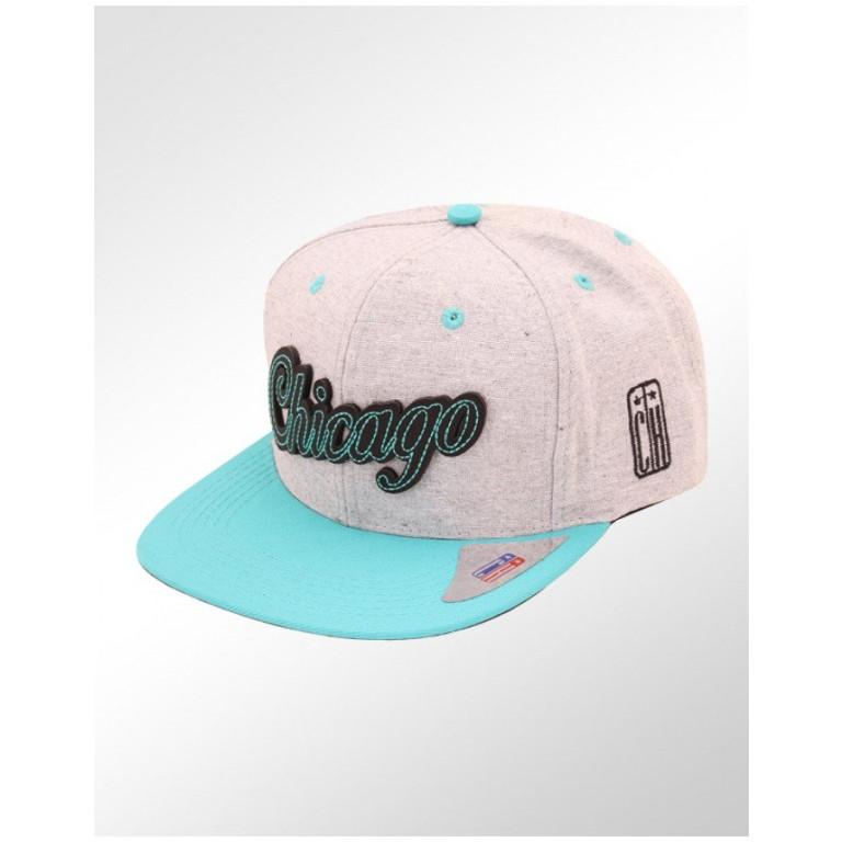 Boné Snapback Aba Reta Classic Hats Chicago City