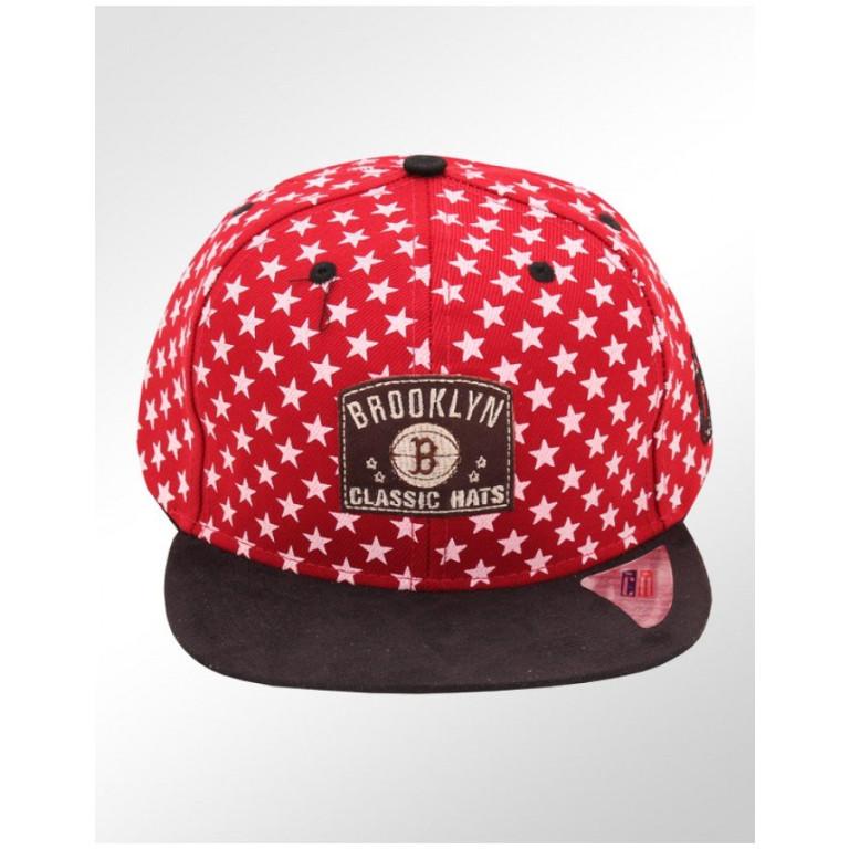 Boné Snapback Aba Reta Classic Hats Estrelas Brooklyn Classic Hats