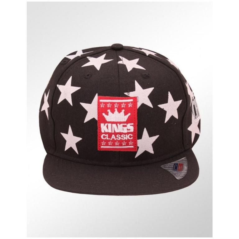 Boné Snapback Aba Reta Classic Hats Estrelas Kings Classic