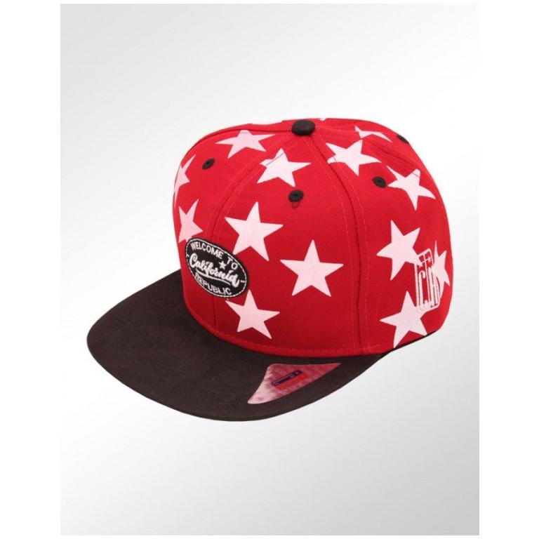 Boné Snapback Aba Reta Classic Hats Estrelas Welcome to Califórnia 1