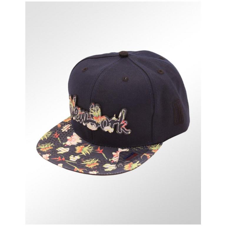 Boné Snapback Aba Reta Classic Hats New York Floral 1