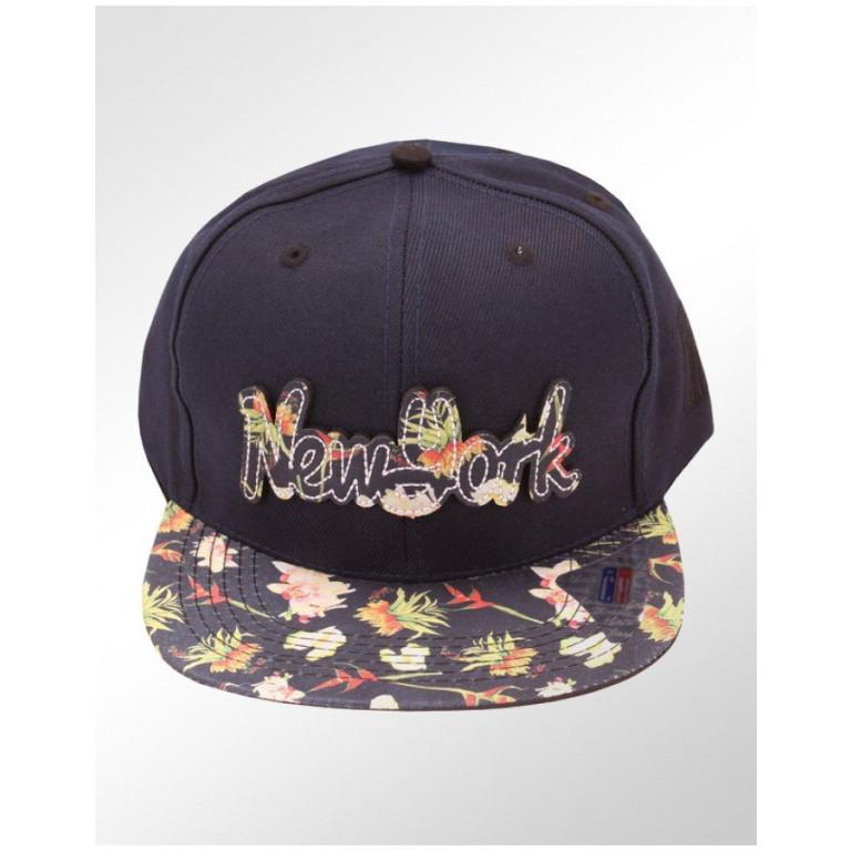 Boné Snapback Aba Reta Classic Hats New York Floral
