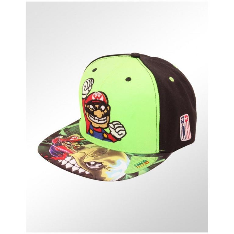 Boné Snapback Aba Reta Classic Hats Super Mario Bros 1