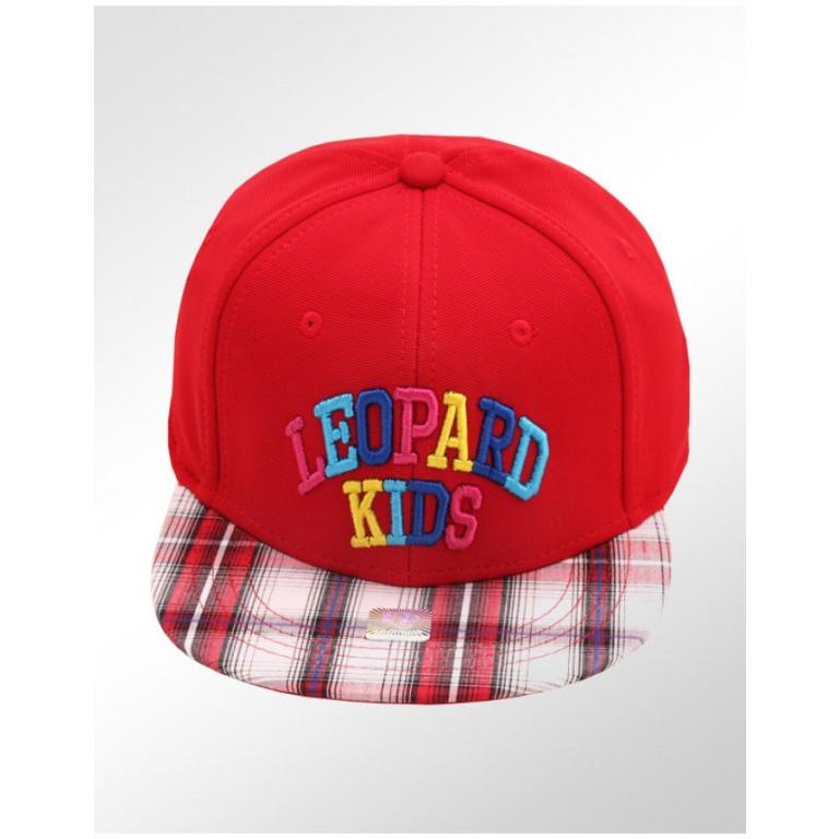 Boné Infantil Aba Reta Xadrez Leopard Kids