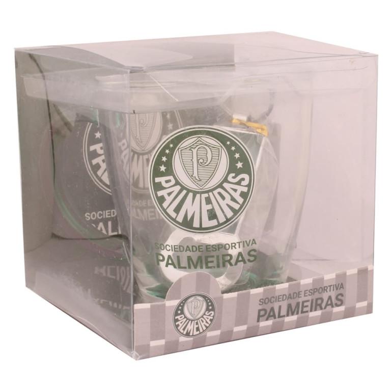 Caneca do Palmeiras de Vidro com Chaveiro Abridor de Garrafa 370 ml
