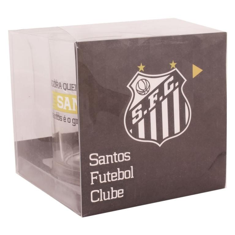 Caneca do Santos de Vidro com Chaveiro Abridor de Garrafa 370 ml