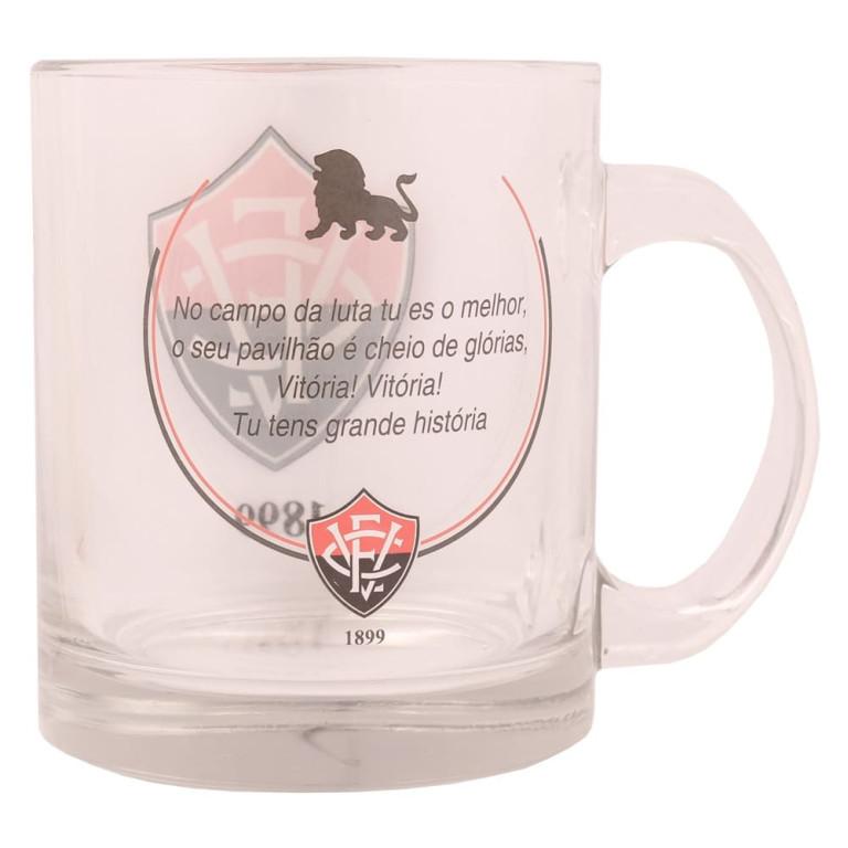 Caneca do Vitória de Vidro com Chaveiro Abridor de Garrafa 370 ml