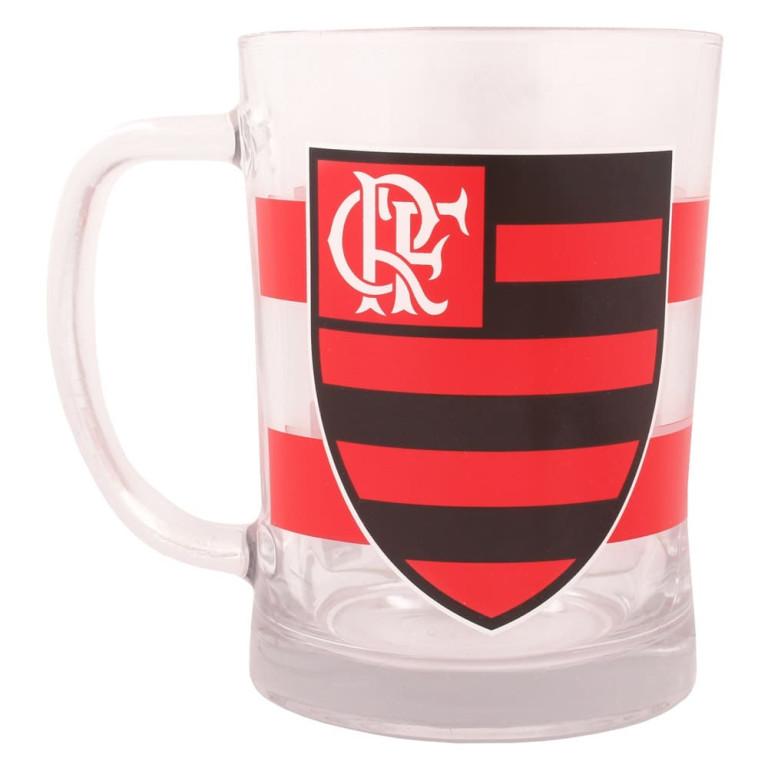 Caneca de Vidro do Flamengo 660 ml