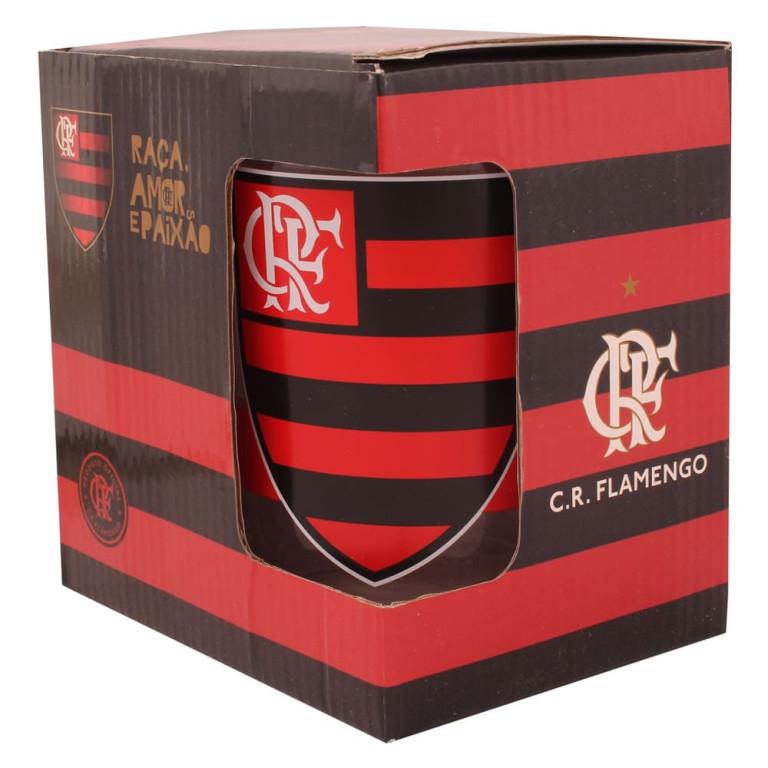 Caneca Do Flamengo de Vidro Grosso 650 ml
