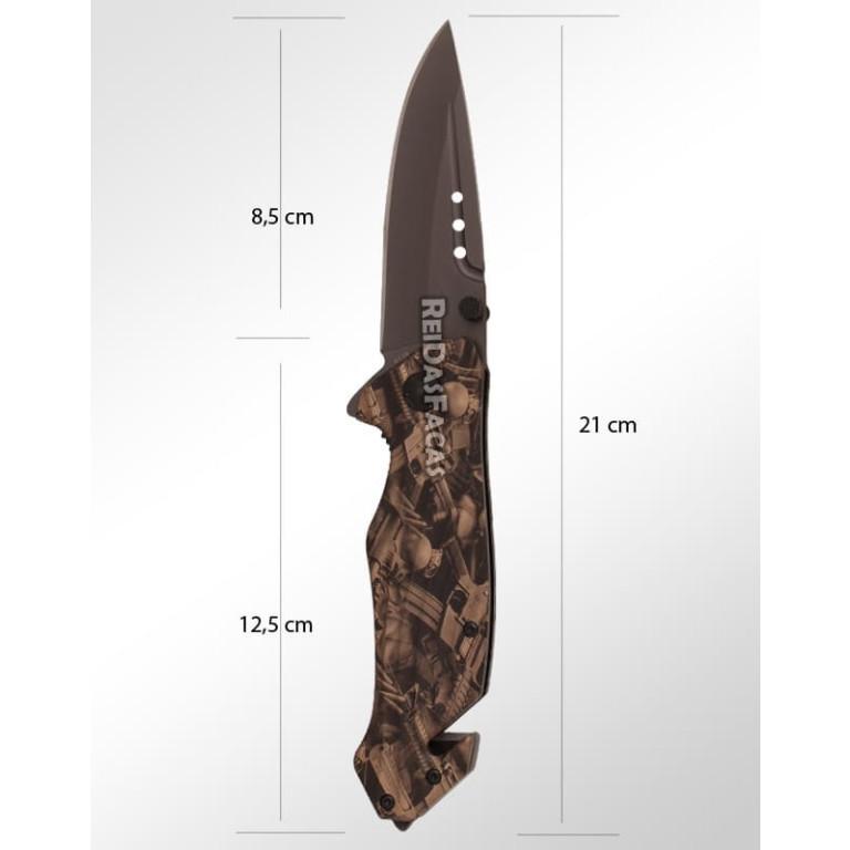 Canivete com Quebra Vidro e Corta Cinto XD-9