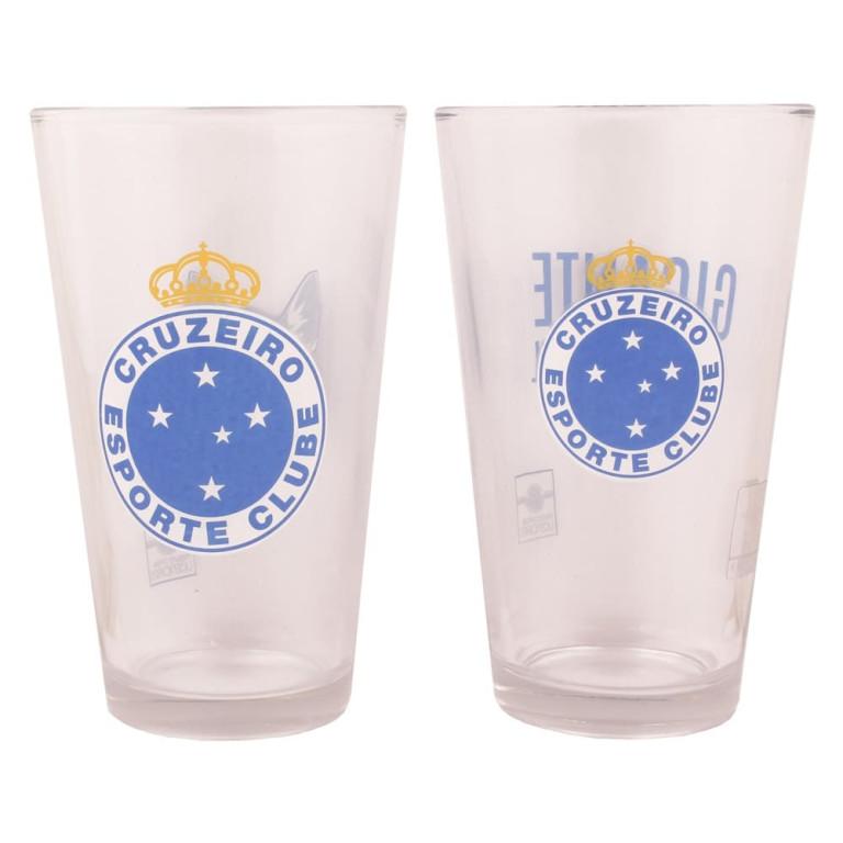 Conjunto com 2 Copos de Vidro do Cruzeiro 475 ml