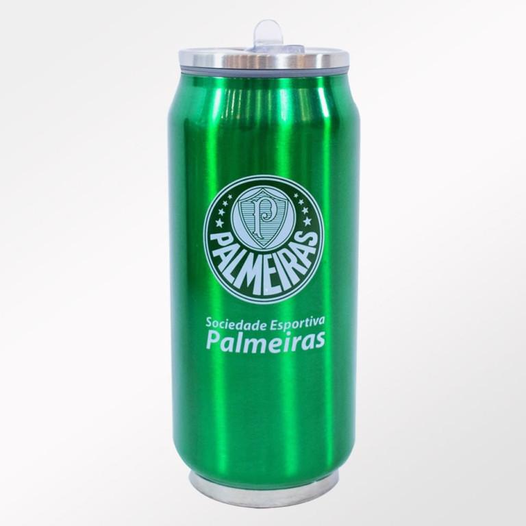 Copo Térmico de Inox do Palmeiras com Canudo 350 ml