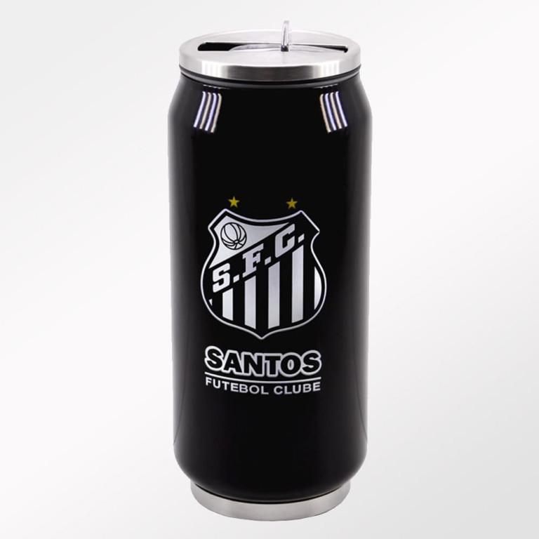 Copo Térmico de Inox do Santos com Canudo 350 ml