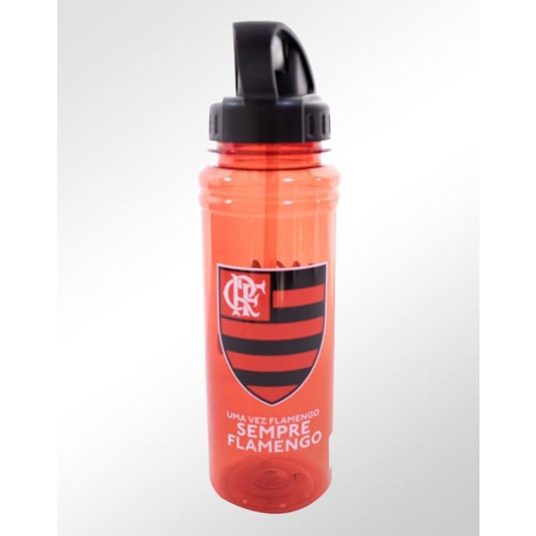 Garrafa de Plástico com Canudo Retrátil do Flamengo 700 ml