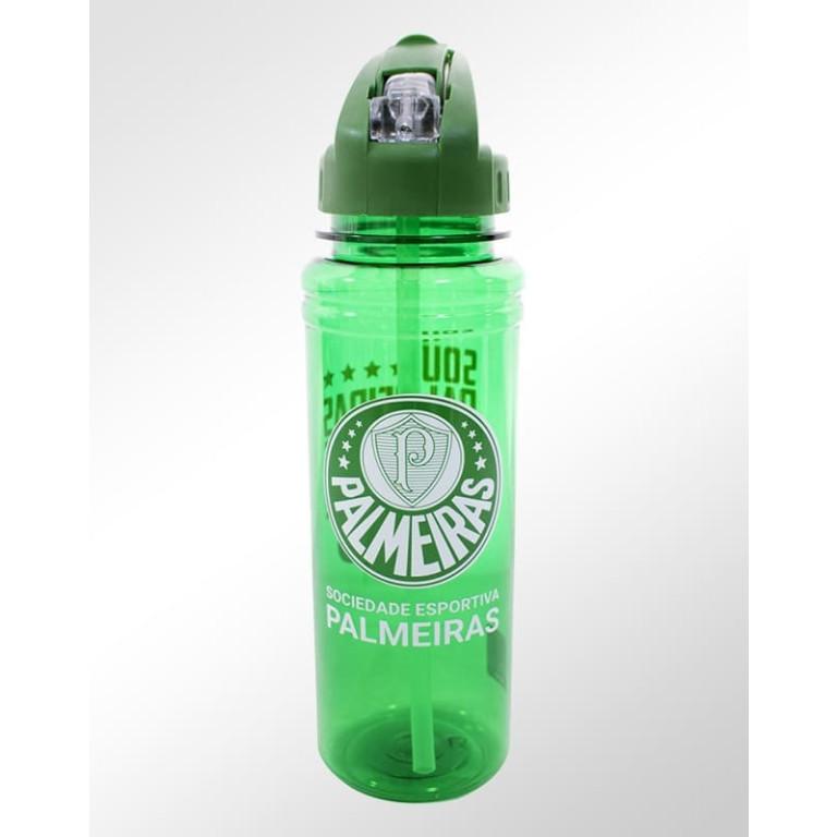 Garrafa de Plástico com Canudo Retrátil do Palmeiras 700 ml