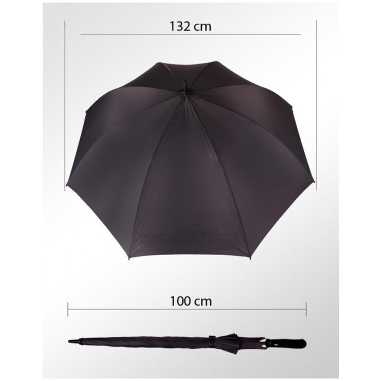 Guarda-Chuva Portaria Fazzoletti Ultra Leve Cinza Escuro