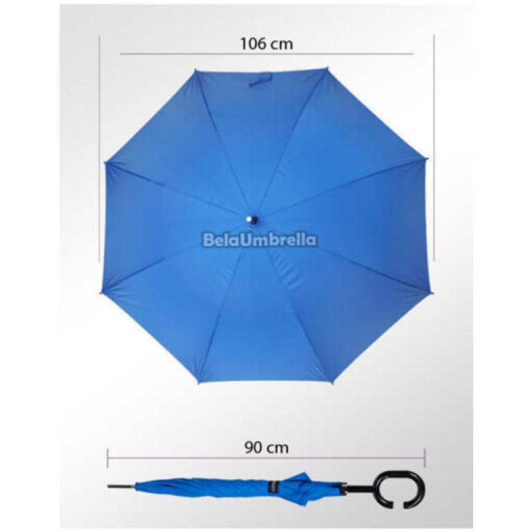 Guarda Chuva Sombrinha Fazzoletti Cabo Celulare Azul