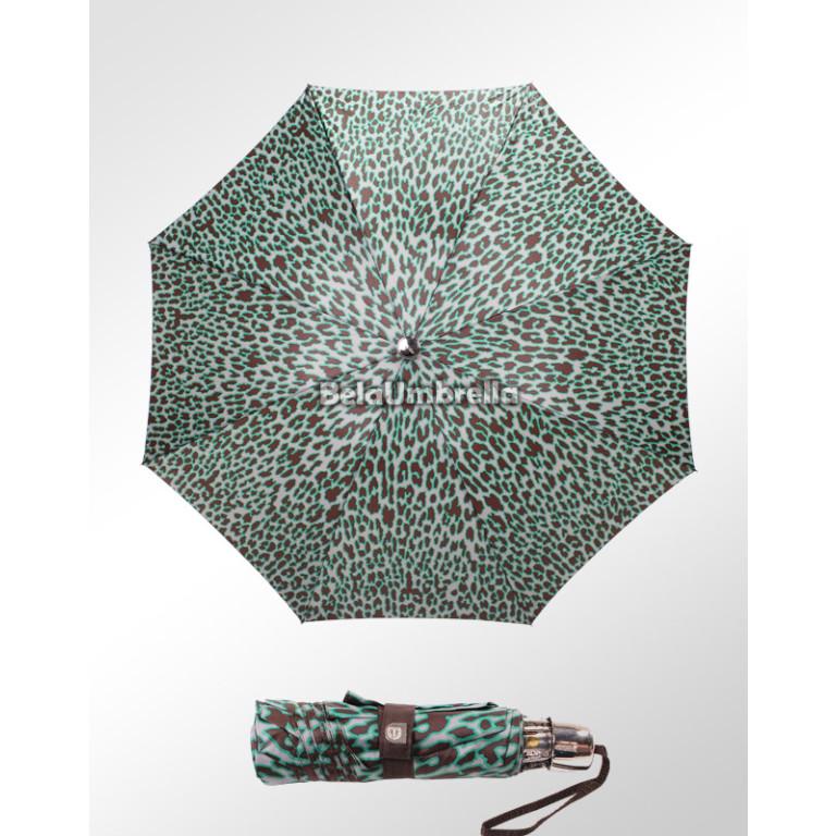 Guarda Chuva Sombrinha Ezpeleta Importada Alta Qualidade Mini Oncinha Verde