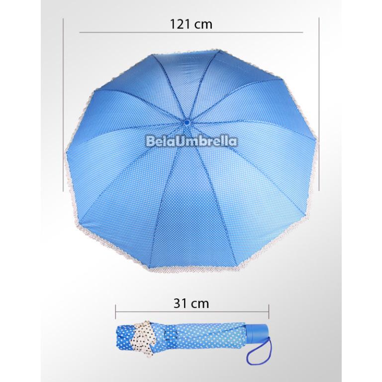 Guarda Chuva Sombrinha Grande Mayara Azul 120 cm
