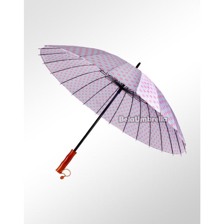 Guarda Chuva Sombrinha Reforçada 24 Varetas Boa Qualidade Moranguinho 4