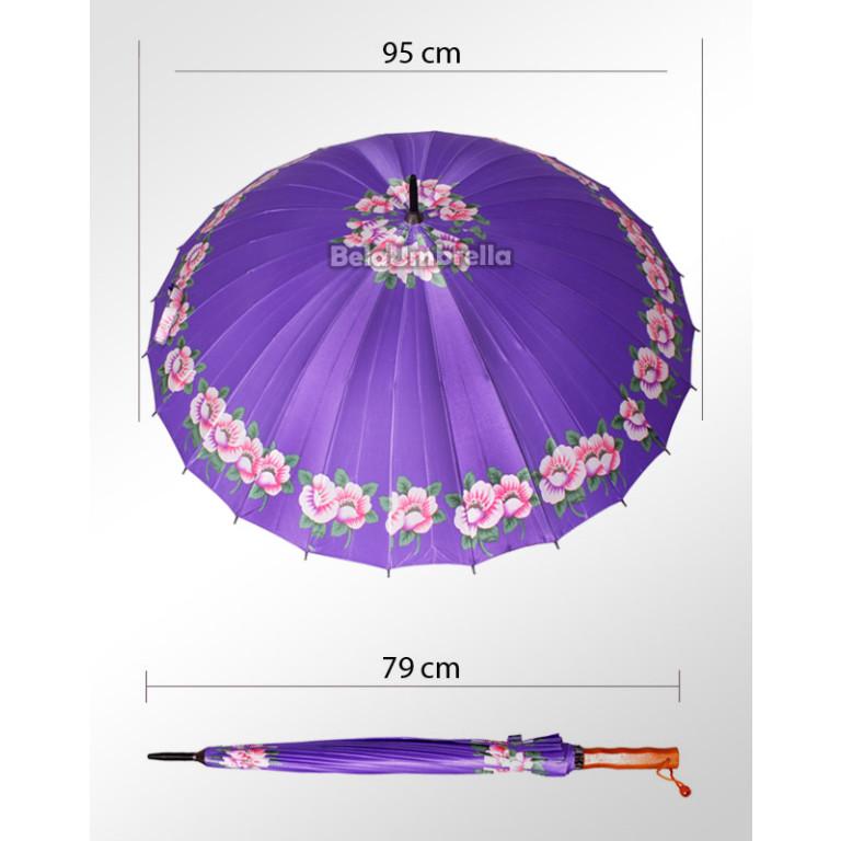 Guarda Chuva Sombrinha Reforçada 24 Varetas Violetas