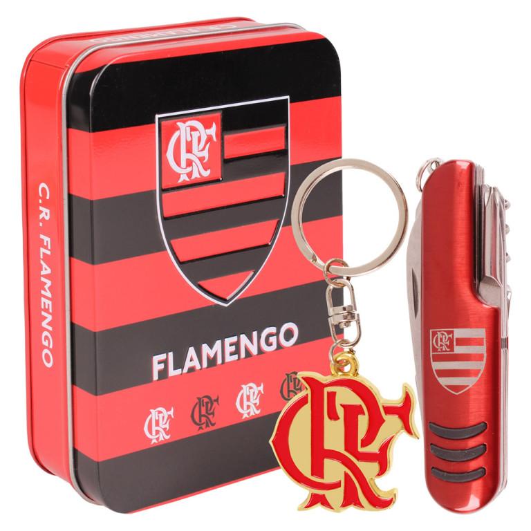 Jogo Canivete do Flamengo com Chaveiro