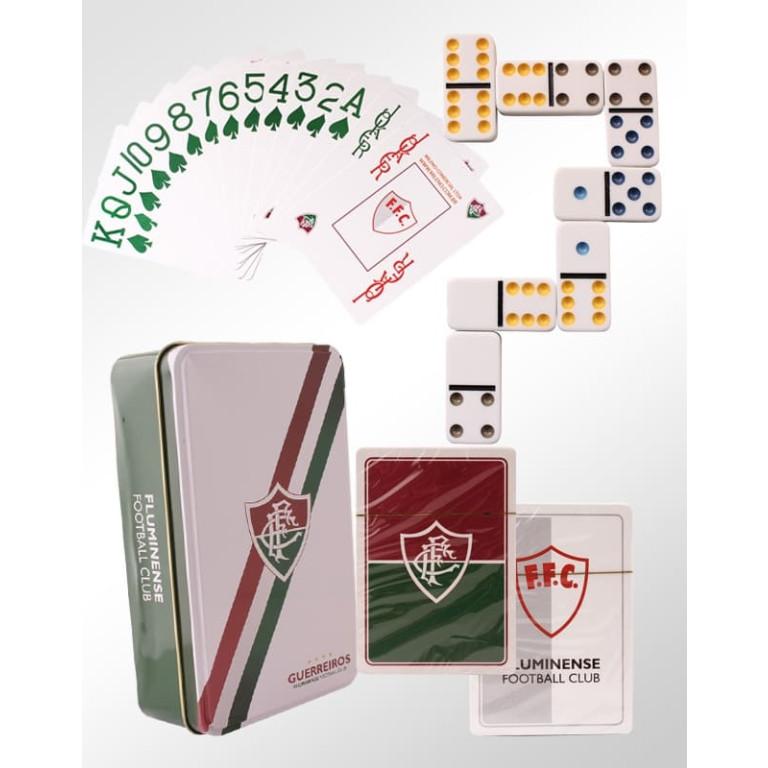 Jogo de Dominó Colorido Com 2 Baralhos do Fluminense
