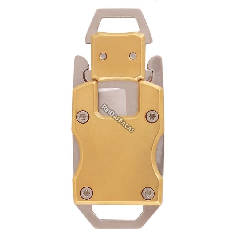 Mini Canivete de Pescoço Dourado HZ-06-1068 1