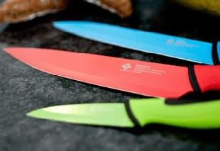 Facas de Cozinha Coloridas